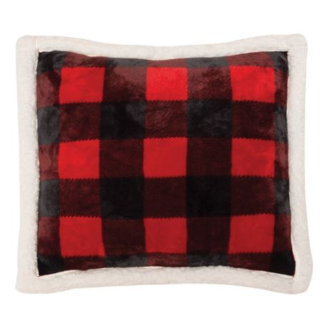 Carstens Lumberjack Plaid Sherpa Pillow