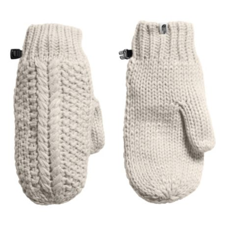 The North Face® Women's Cable Minna Mitts - Vintage White
