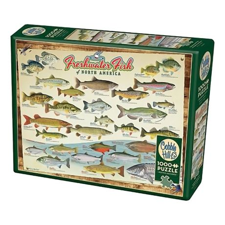 Cobble Hill Freshwater Fish of North America Puzzle - 1000 pieces