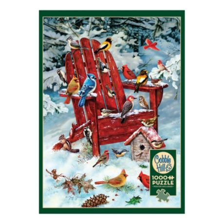 Cobble Hill Adirondack Birds Puzzle - 1000 Pieces