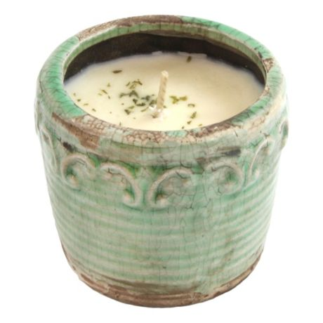 Swan Creek Vintage Pottery Candles - Citrus & Sage