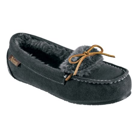 Natural Reflections® Women's Fur-Lined Suede Moccasins