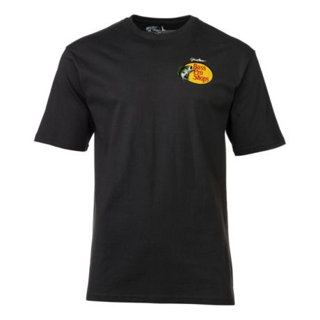 Bass Pro Shops® Men's Johnny Morris Woodcut Logo Short-Sleeve T-Shirt - Black