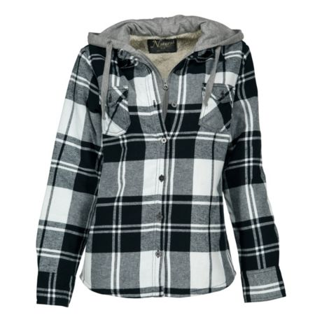 667870929b4b Mouse over image for a closer look. Natural Reflections® Women s 2-in-1  Hooded Flannel Shirt ...