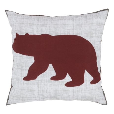 White River Alaskan Wildlife Collection Bear Plaid Decorative Pillow