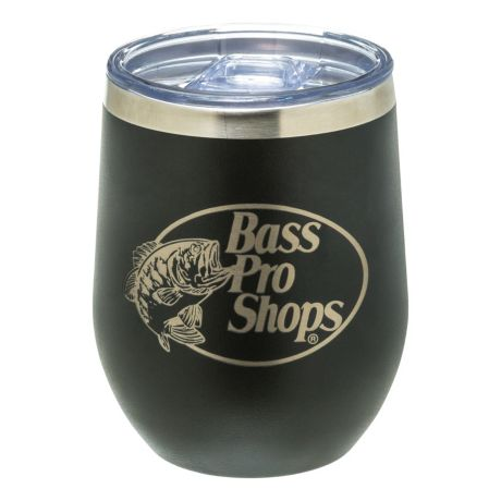 PURE Drinkware 12-oz. Stemless Wine Glass - Bass Pro Shops Logo