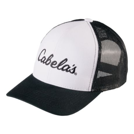 Cabela's Men's Embroidered Trucker Cap - Black