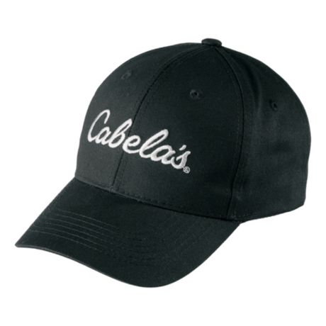 Cabela's Men's Embroidered Twill Cap - Black