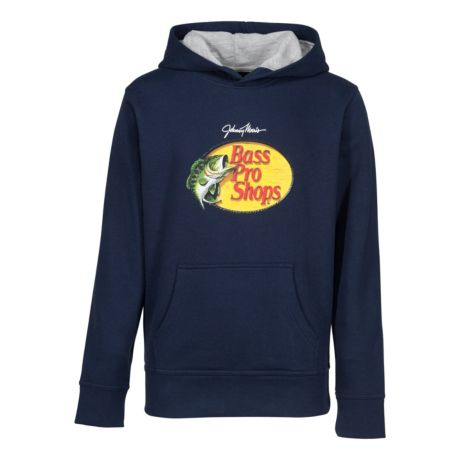 Bass Pro Shops® Boys' Woodcut Hoodie - Black Iris