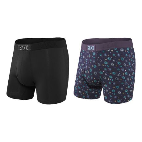 SAXX® Men's Quest Boxer Brief – 2-Pack - Black/Light Skies