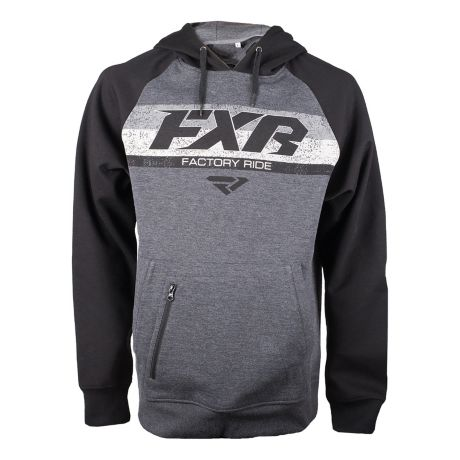 FXR® Men's Factory Pullover Hoodie - Grey Heather/Black