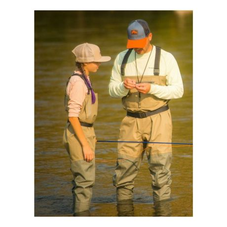 Simms® Men's Tributary Stockingfoot Waders - in use