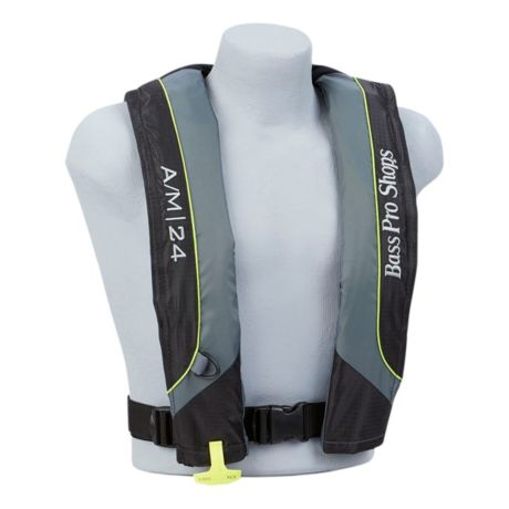 Bass Pro Shops® AM24 Auto/Manual Inflatable Life Vest - Green