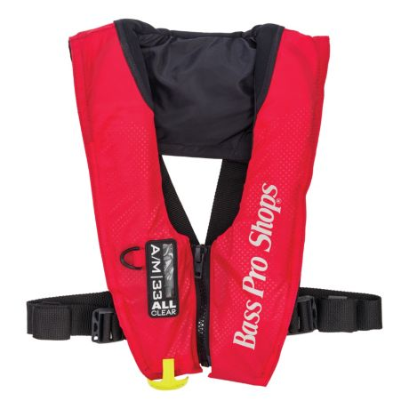 Bass Pro Shops® AM 33 All-Clear™ Auto/Manual-Inflatable Life Vest - Red