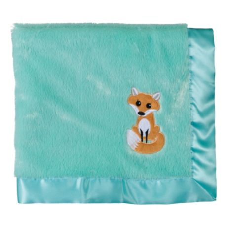 Bass Pro Shops® Applique Satin-Trimmed Baby Blanket - Fox