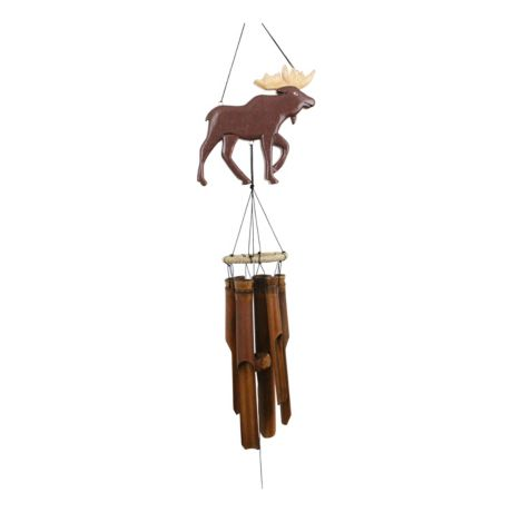 Cohasset Moose Silhouette Bamboo Wind Chime