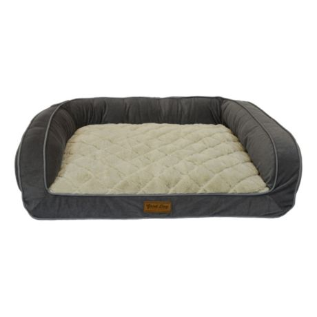 DMC Quilted Couch Dog Bed - Grey