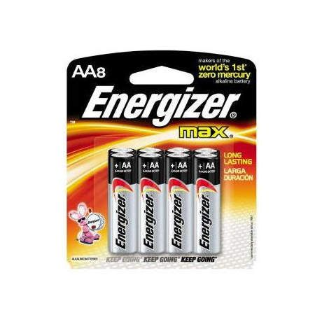 Energizer MAX Alkaline Batteries - AA 8 Pack
