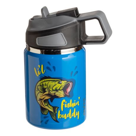 PURE Drinkware Stainless Steel Tumbler for Kids - Li'l Fishin' Buddy