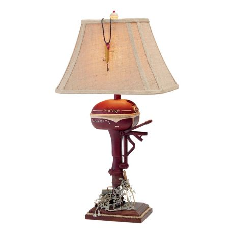 White River Boat Motor Table Lamp