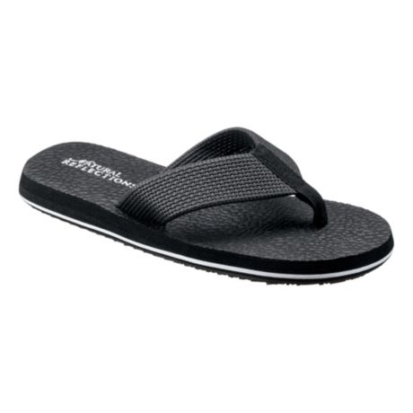 Natural Reflections® Women's Sarah Soda Flip Sandals - Black