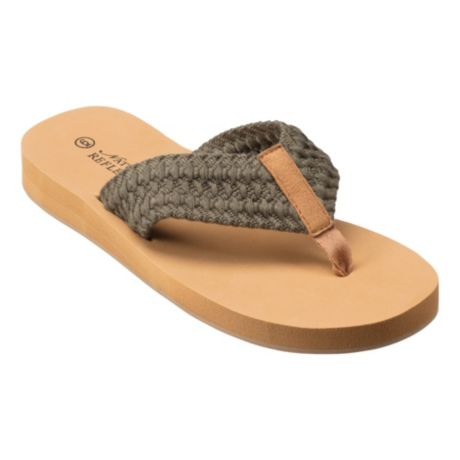 Natural Reflections® Women's Shelly Woven Flip Sandals - Olive