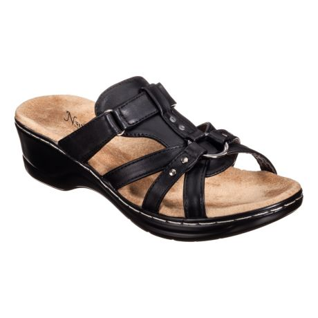 Natural Reflections® Women's Aleisha Wedge Sandals - Black