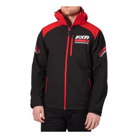 FXR® Men's Renegade Softshell Jacket - Black/Red