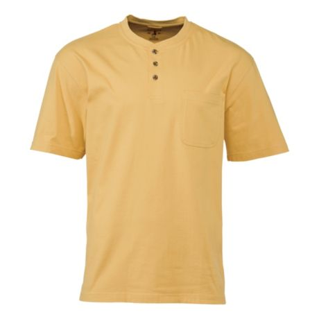 RedHead® Men's Henley Pocket Shirt - Wheat