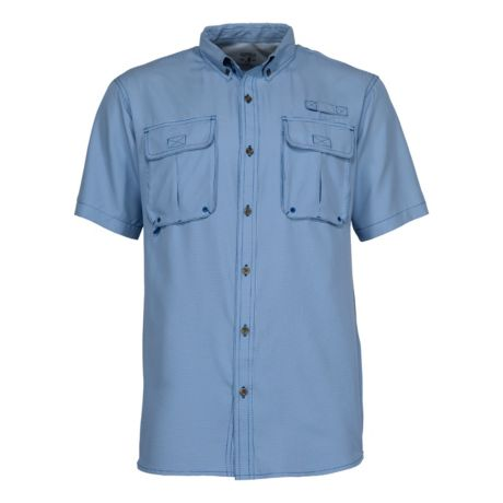 RedHead® Men's Angler Series Tourney Trail Short-Sleeve Shirt - Bright Blue Gingham