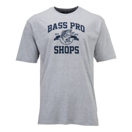 Bass Pro Shops® Men's Classic Logo Short-Sleeve T-Shirt - Heather Grey
