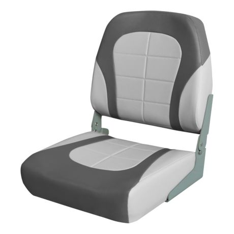 Bass Pro Shops® Tournament Pro Low-Back Boat Seat - Grey/Charcoal
