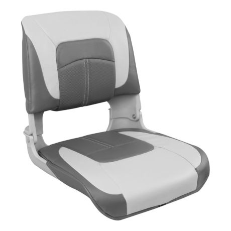 Bass Pro Shops® Hookset High-Back Boat Seat - Grey/Charcoal/Charcoal