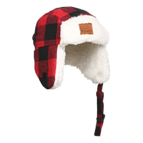 Kombi® Youth The Hip Aviator Hat - Red Buffalo Plaid