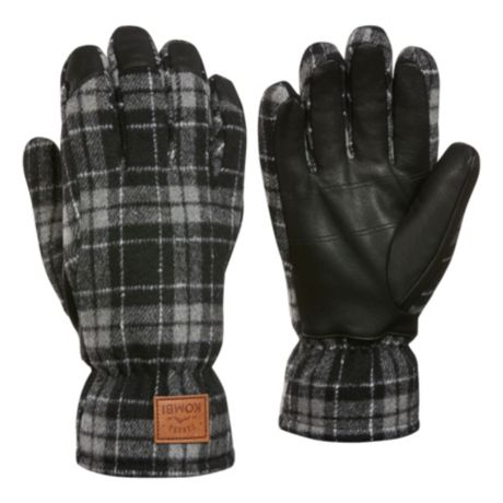 Kombi® Men's Timber Wool-Blend Gloves - Castlerock Buffalo Plaid