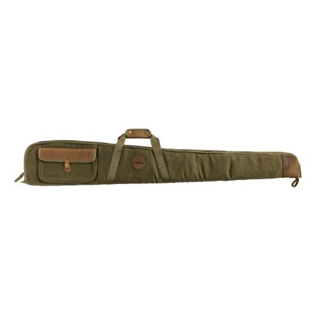 Cabela's Deluxe Waxed Canvas Leather Shotgun Case