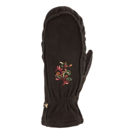 Auclair Women's Embroidered Moc Mitt - Black