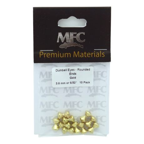 Montana Fly Company Brass Dumbbell Eyes - Small - Gold