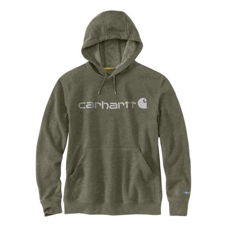 Carhartt® Men's Force® Delmont Signature Graphic Hoodie - Moss Heather