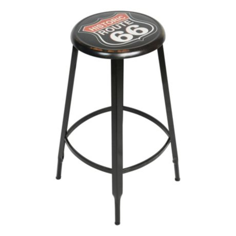 Open Roads Route 66 Metal Stool