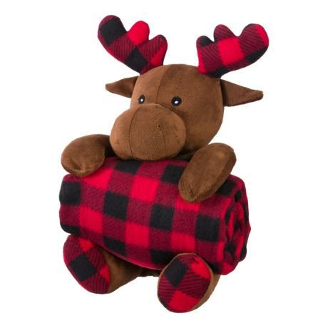 Bass Pro Shops® Stuffed Animal with Fleece Blanket - Moose