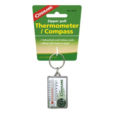 Coghlan's Zipper Pull Thermometer With Compass