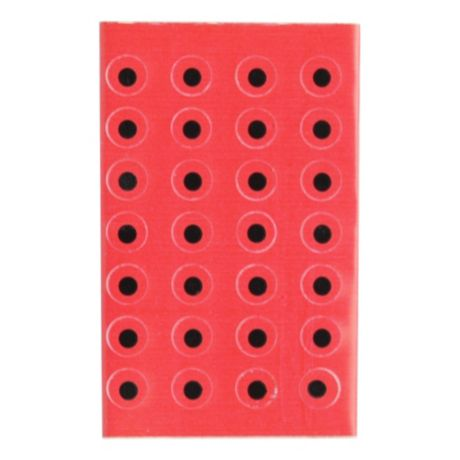 "Wapsi 3.16"" Flat Stick On Eyes - Red"