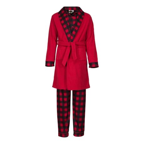 Bass Pro Shops® Boys' 3-Piece Pajama Set - Buffalo Plaid