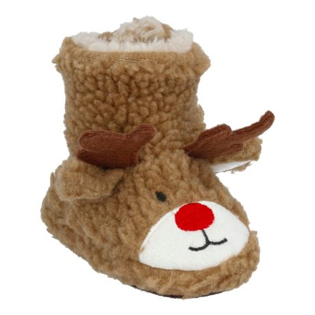 Outdoor Kids Reindeer Booties for Babies