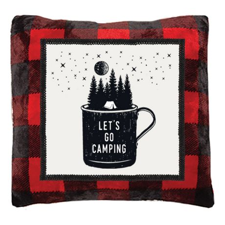 Cartstens Let's Go Camping Pillow