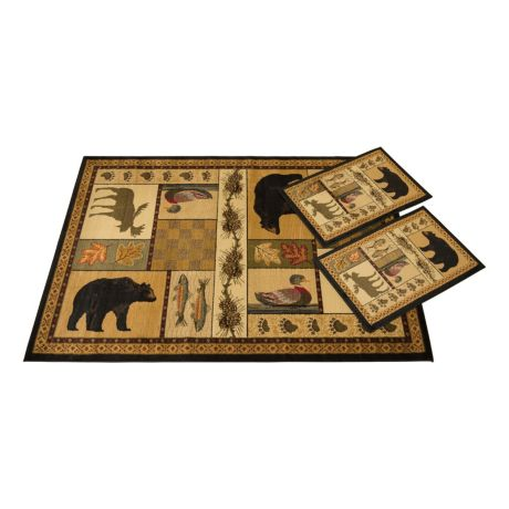 United Weavers Pine Montage 3-Piece Rug Set
