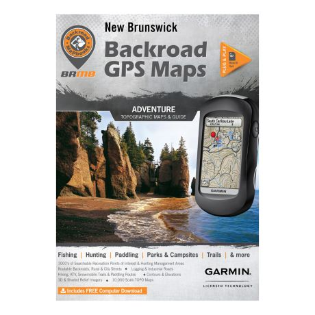 Backroad Canadian GPS Micro SD Version Maps - New Brunswick