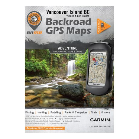 Backroad Canadian GPS Micro SD Version Maps - Vancouver Island