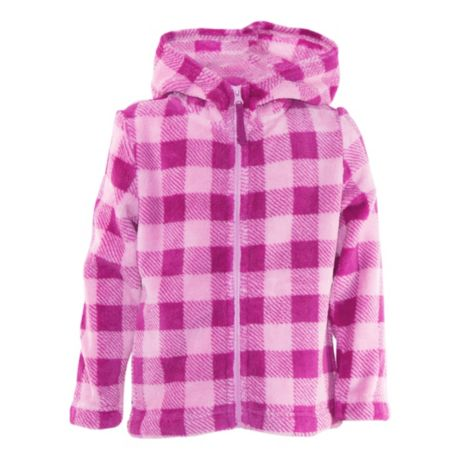 Outdoor Kids® Toddlers' and Girls' Cozy Fleece Full-Zip Hooded Jacket - Pink Plaid